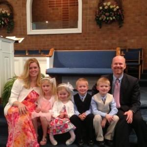 Pastor Treg Spicer and family